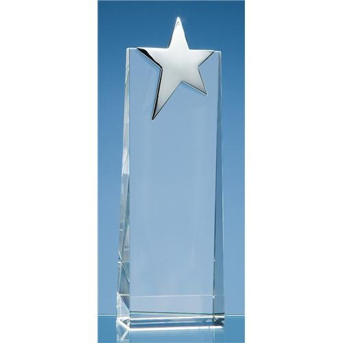 22.5cm Optic Rectangle with Silver Star