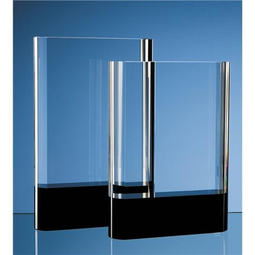 20.5cm Optical Crystal Rectangle With Onyx Black Base