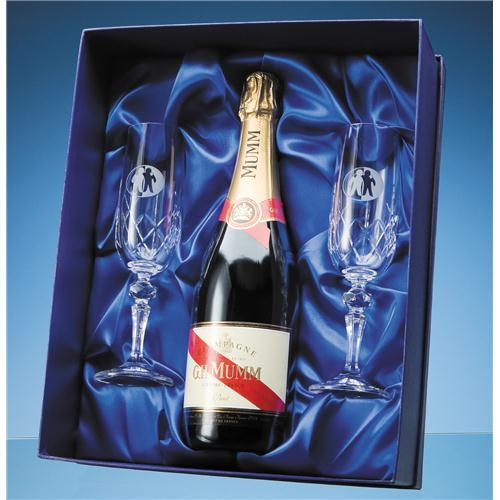 Champagne Set Lined Presentation Box