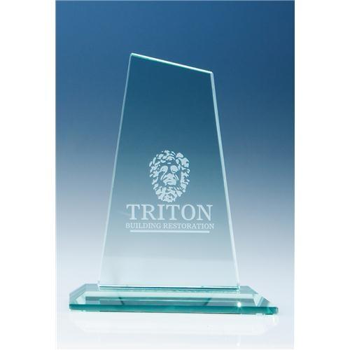 15cm Jade Glass Mountain Award