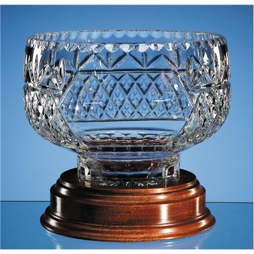 20cm Lead Crystal Panel Bowl