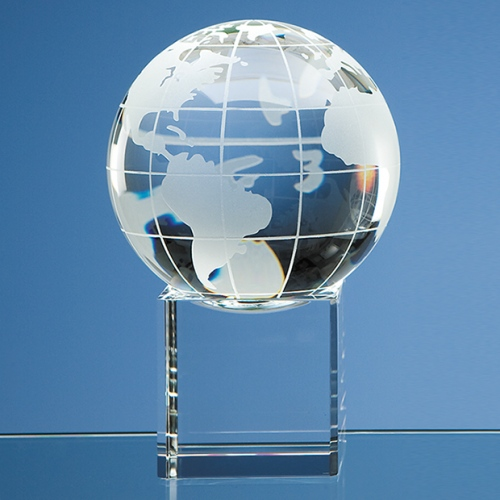 100 mm Optic Globe on Clear Base