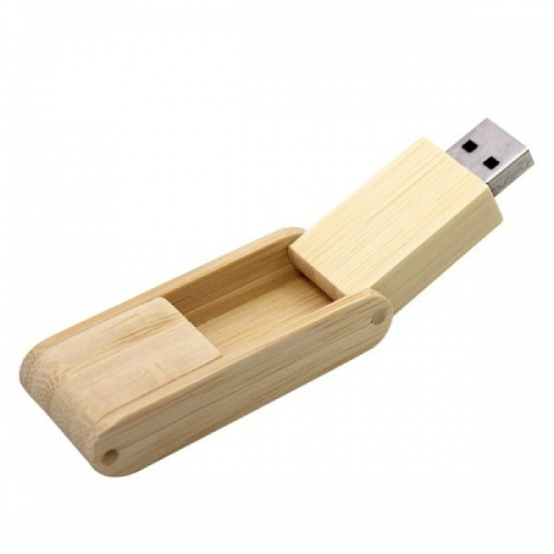 Wooden Flip USB Flash Drive