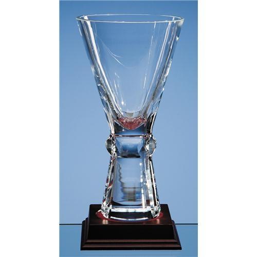 22cm Crystal Trophy Vase