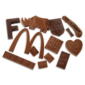 Bespoke Moulded Chocolate Shapes