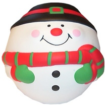 Snowman Shaped Stress Toy