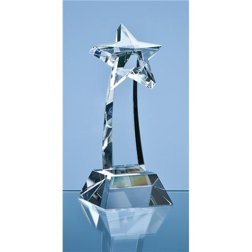 16cm Optical Crystal Shooting Star Award