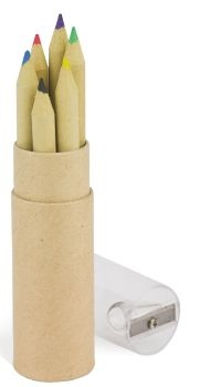 Craft Paper Pencil Tube With Sharpener