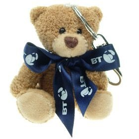 8 cm Tubby Keyring Bear with Bow
