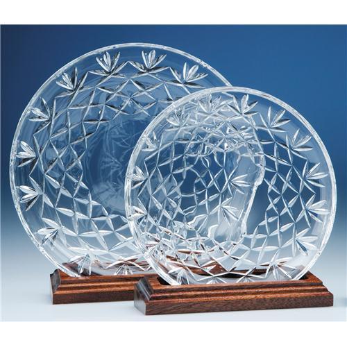 30cm Lead Crystal Cut Plate