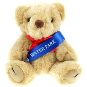 12.5 cm Honey Jointed Bear with Sash