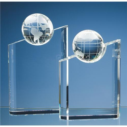 "8.5"" x 6"" x 2"" Optic Globe Award"