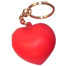 Love Heart Keyring Stress Toy