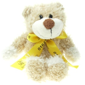16 cm Wally Jointed Bear with Bow