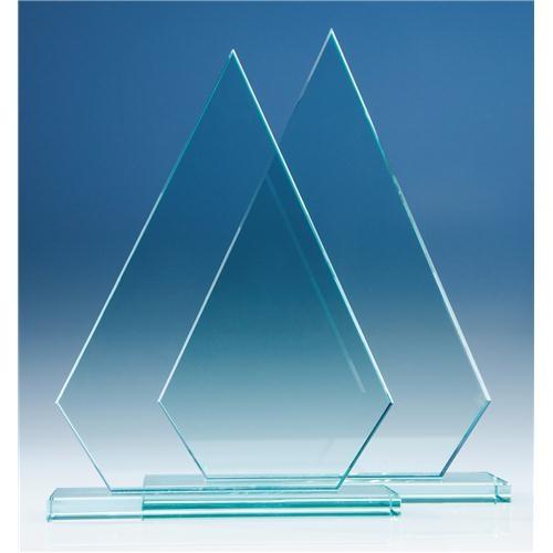 230 mm Peak, 12 mm Jade Glass Award