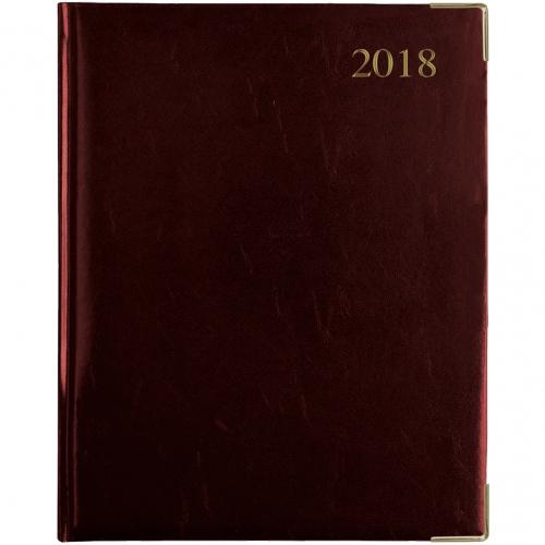 Leathergrain Deluxe Weekly Quarto Desk Diary