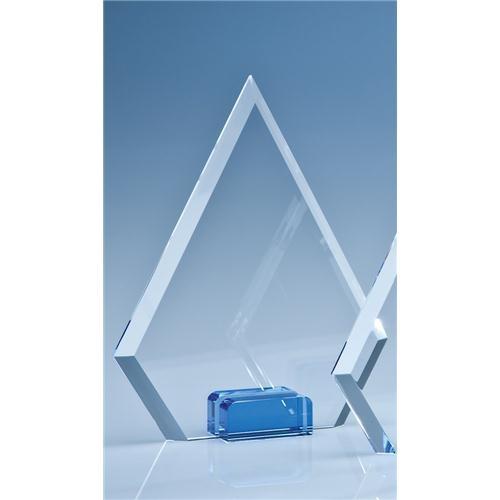 18.5cm Optical Crystal Diamond With Sapphire Blue Base