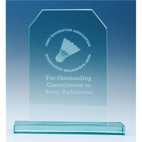 15cm Jade Glass Honour Award