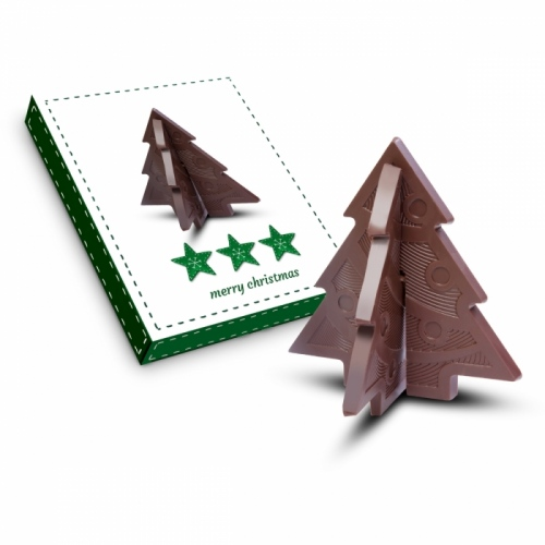 3D Christmas Tree Chocolate Puzzle