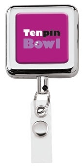 Square Metal Retractable Badge Holder