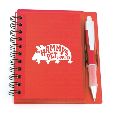Assai Small Plastic Note Pad And Pen