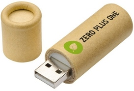 Natural Round Box USB Flash Drive