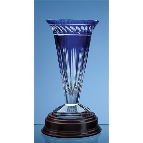 25.5 Mario Cioni Lead Crystal Ginostra Vase
