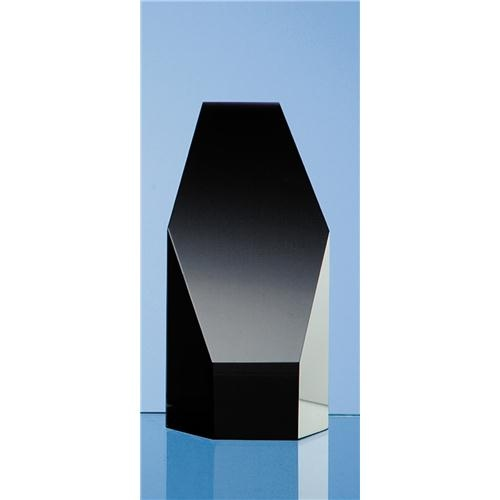 12.5cm Onyx Black Optic Hexagon Award