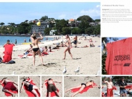 Promotional Beach Towels Advertise Grisly Murder Show #CleverPromoGifts