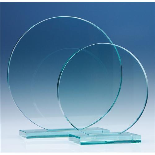 20cm Jade Glass Circle Award