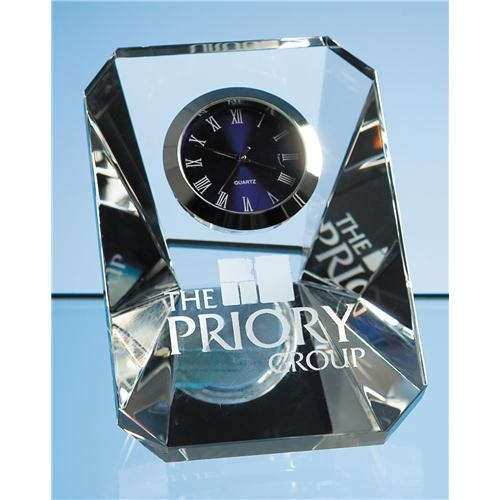 7cm Optical Crystal Wedge Clock