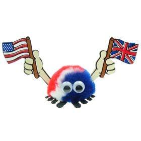 Double Flag Handy Logo Bug