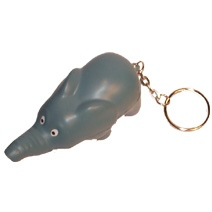 Elephant Stress Toy Keyring