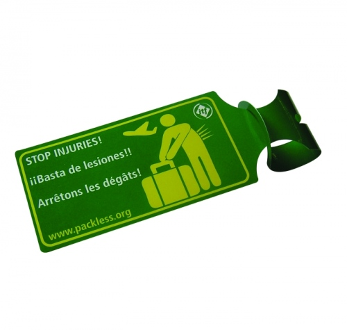 Luggage Tag Laminated Plastic