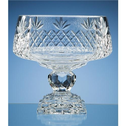 24cm Lead Crystal Square Footed Comport