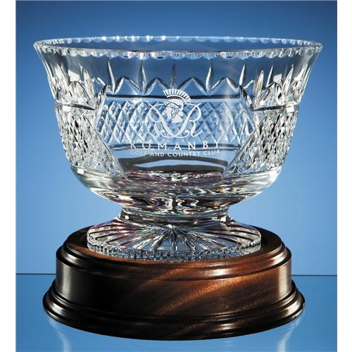 24.5cm Lead Crystal Panelled Trophy Bowl