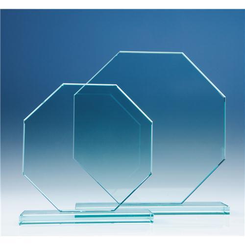 150 mm Octagon, 12 mm Jade Glass Award