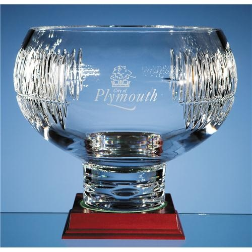 5cm Lead Crystal Double Panelled Bowl