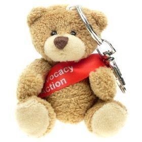 8 cm Tubby Keyring Bear with Sash