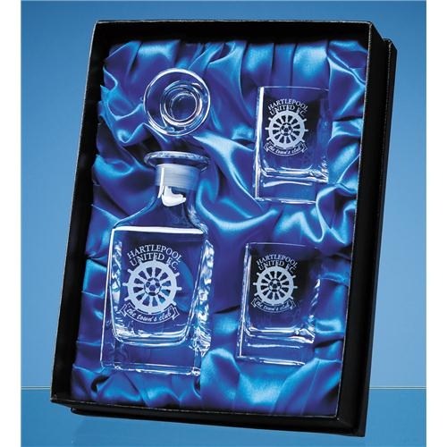 Wee Dram Set Satin Lined Presentation Box