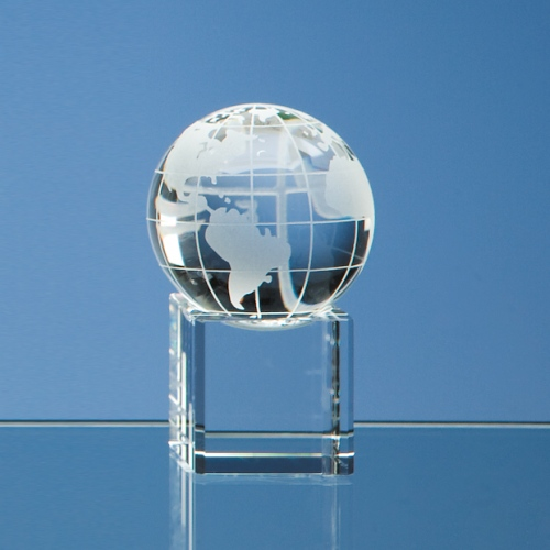 50 mm Optic Globe on Clear Base