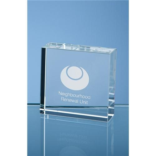 5cm Optical Crystal Square Paperweight