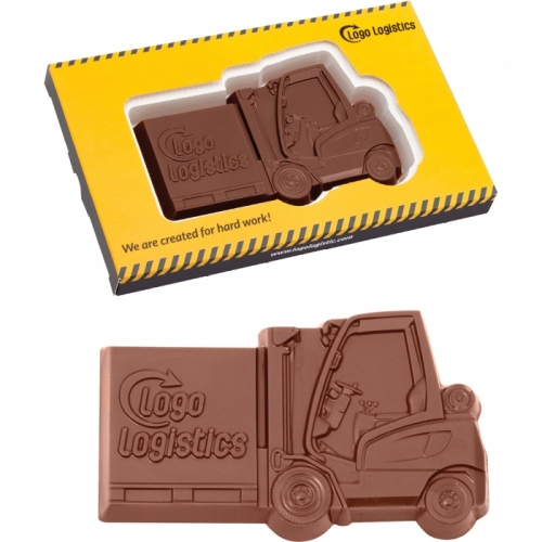 Forklift Truck Shaped Chocolate in a Box