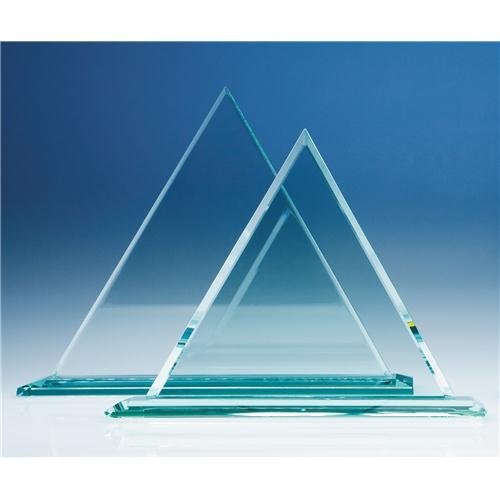 23cm Jade Glass Pyramid Award