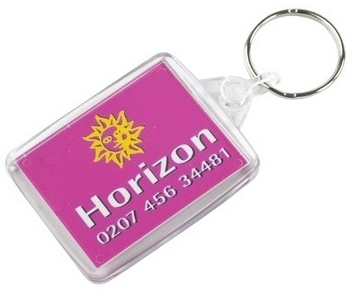 Size 2 Clear Acrylic Keyfob - 40 x 33