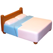 Bed Double Stress Toy