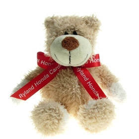 20 cm Wally Jointed Bear with Bow
