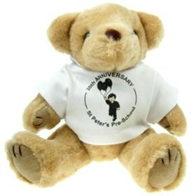 25 cm Honey Jointed Bear in a T-Shirt