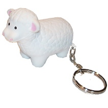 Sheep Shaped Keyring Stress Toy