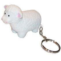Sheep Shaped Keyring Stress Toy
